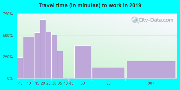 24219 zip code travel time to work (commute)