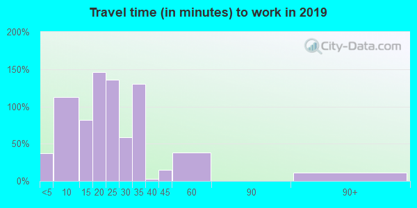 24290 zip code travel time to work (commute)
