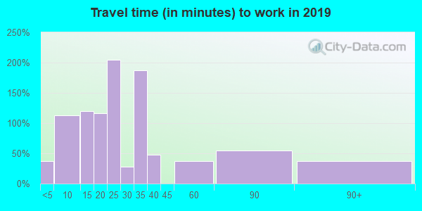 24555 zip code travel time to work (commute)