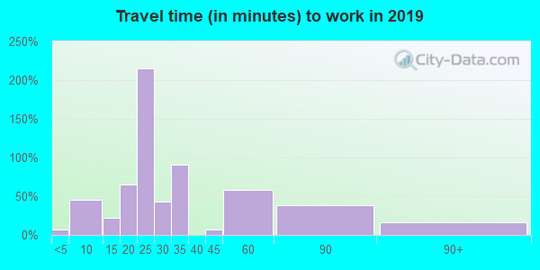 24566 zip code travel time to work (commute)