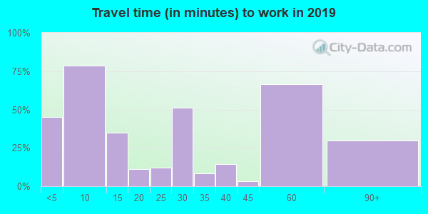 25209 zip code travel time to work (commute)