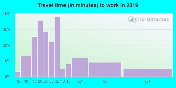 29063 zip code travel time to work (commute)
