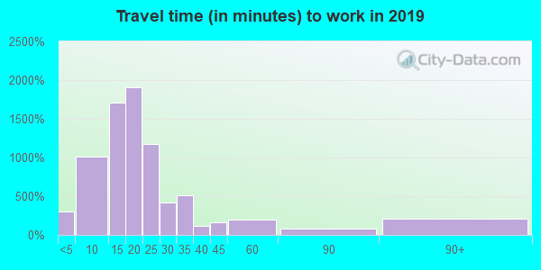 29204 zip code travel time to work (commute)