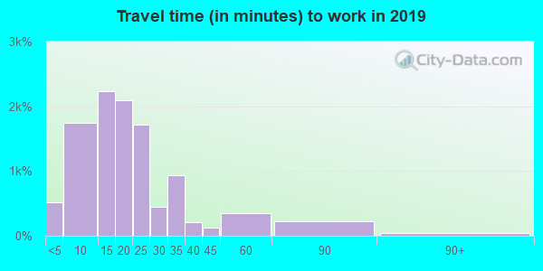 29303 zip code travel time to work (commute)