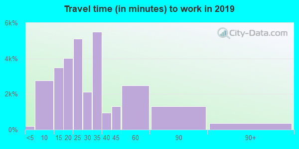29445 zip code travel time to work (commute)