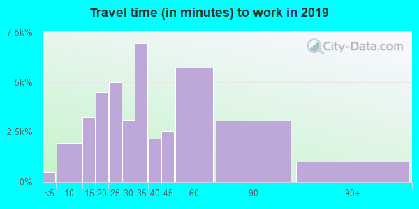 29483 zip code travel time to work (commute)