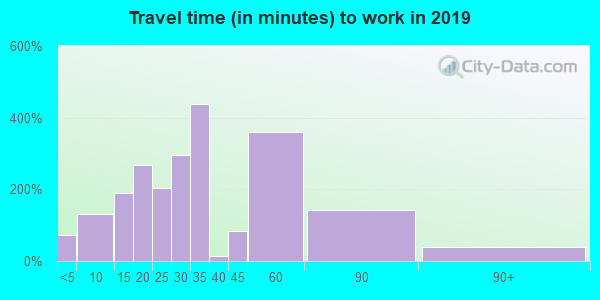 29544 zip code travel time to work (commute)