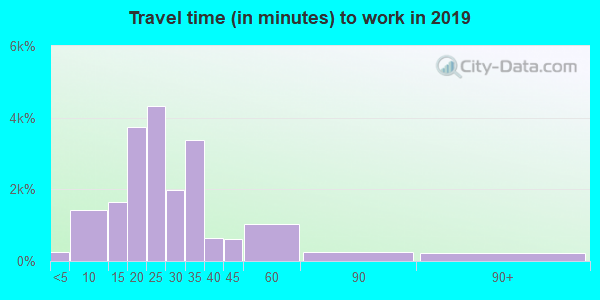 29687 zip code travel time to work (commute)