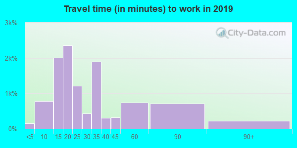 30121 zip code travel time to work (commute)