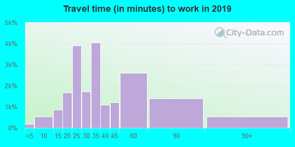 30294 zip code travel time to work (commute)