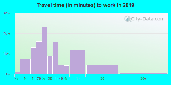 30307 zip code travel time to work (commute)