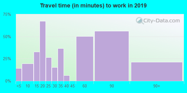 30803 zip code travel time to work (commute)