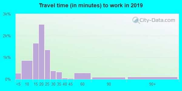 31906 zip code travel time to work (commute)