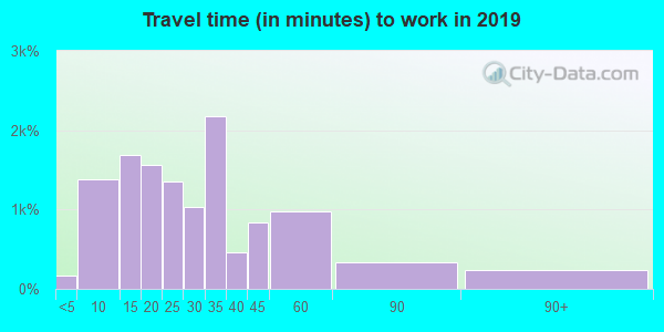 32082 zip code travel time to work (commute)