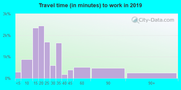 33801 zip code travel time to work (commute)