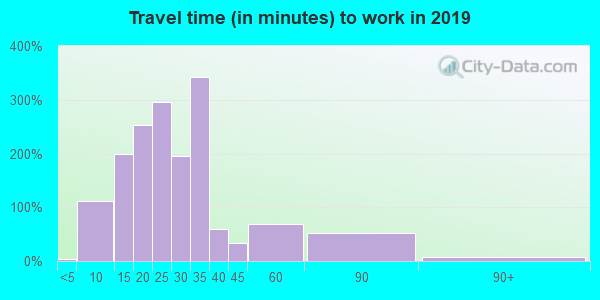 36025 zip code travel time to work (commute)