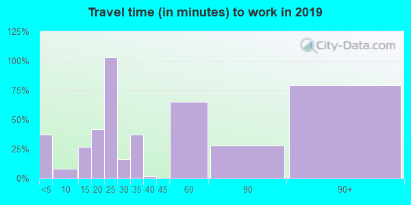 36034 zip code travel time to work (commute)