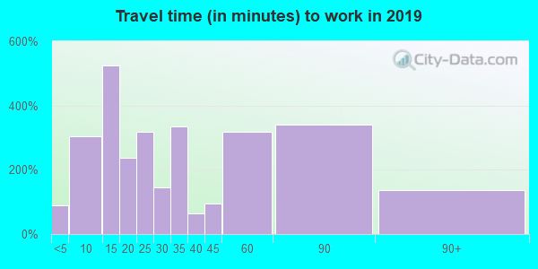 37030 zip code travel time to work (commute)
