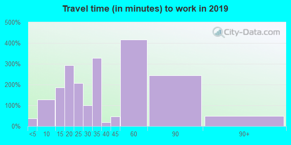 37032 zip code travel time to work (commute)