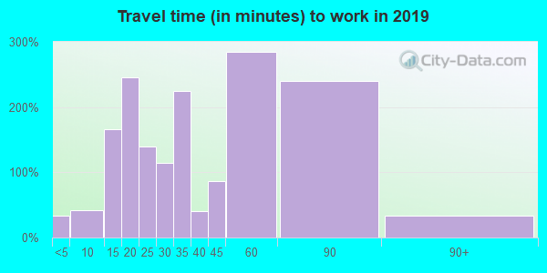 37035 zip code travel time to work (commute)