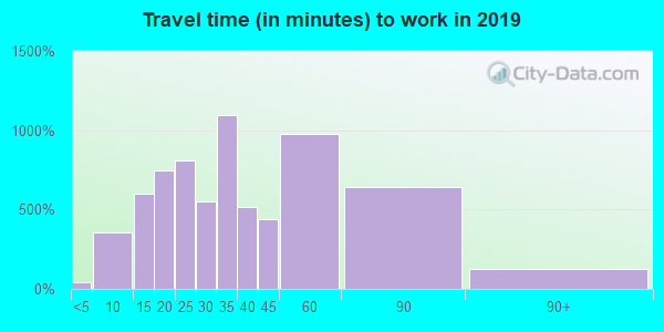 37073 zip code travel time to work (commute)