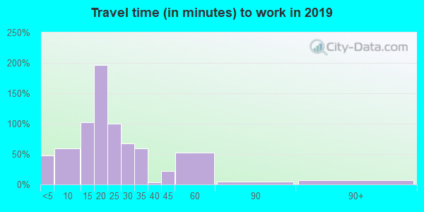 38231 zip code travel time to work (commute)
