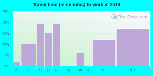 40310 zip code travel time to work (commute)