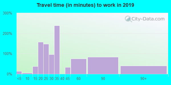 41049 zip code travel time to work (commute)