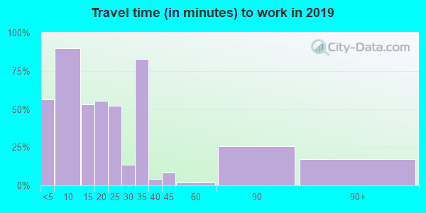 42024 zip code travel time to work (commute)