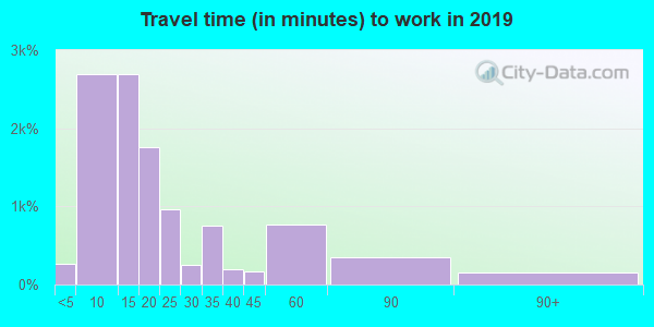 42431 zip code travel time to work (commute)