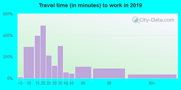 44307 zip code travel time to work (commute)