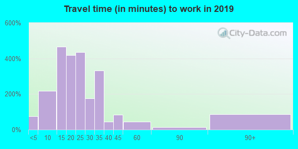 46225 zip code travel time to work (commute)