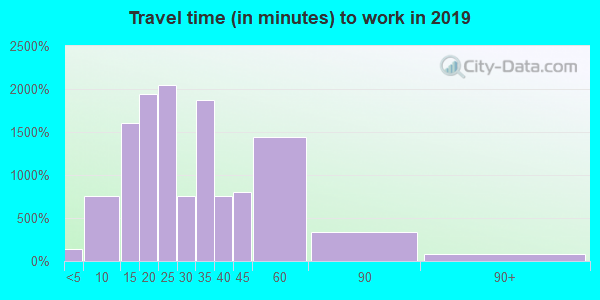 48335 zip code travel time to work (commute)