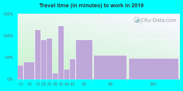 48818 zip code travel time to work (commute)