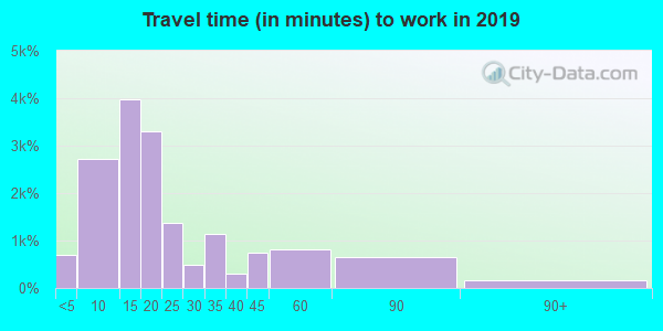 49203 zip code travel time to work (commute)