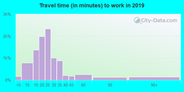 49301 zip code travel time to work (commute)