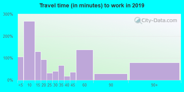 49304 zip code travel time to work (commute)