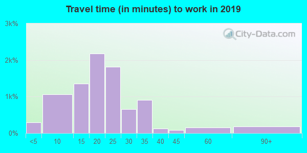 50313 zip code travel time to work (commute)