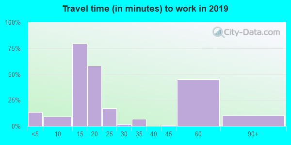 50453 zip code travel time to work (commute)