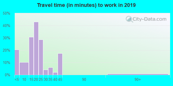 51231 zip code travel time to work (commute)