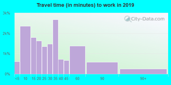 55033 zip code travel time to work (commute)