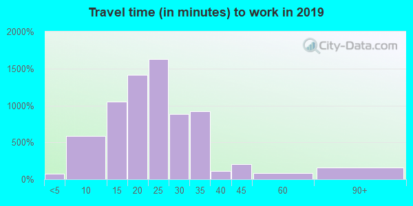 55401 zip code travel time to work (commute)