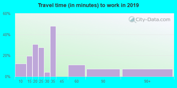 59434 zip code travel time to work (commute)