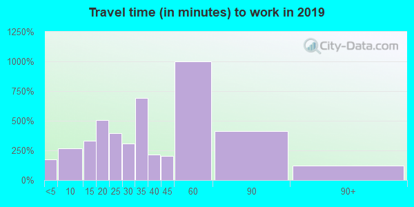 60305 zip code travel time to work (commute)