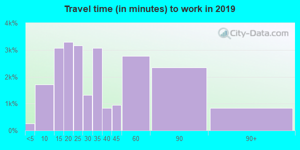 60411 zip code travel time to work (commute)