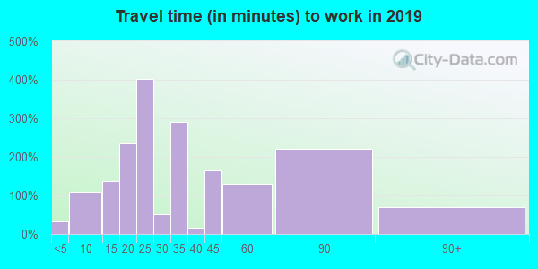 60456 zip code travel time to work (commute)