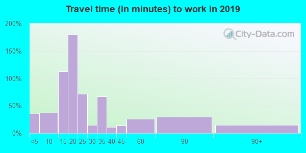 60460 zip code travel time to work (commute)
