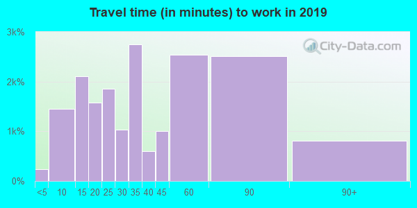 60462 zip code travel time to work (commute)