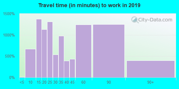 60466 zip code travel time to work (commute)