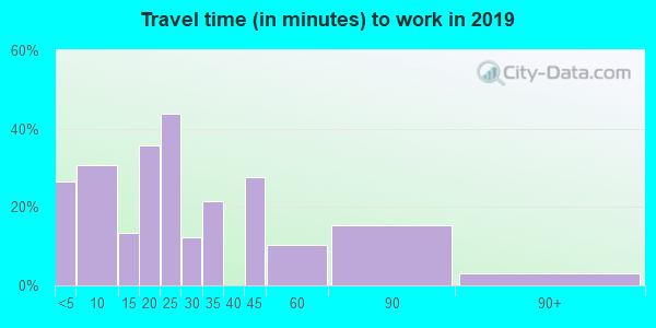 60962 zip code travel time to work (commute)